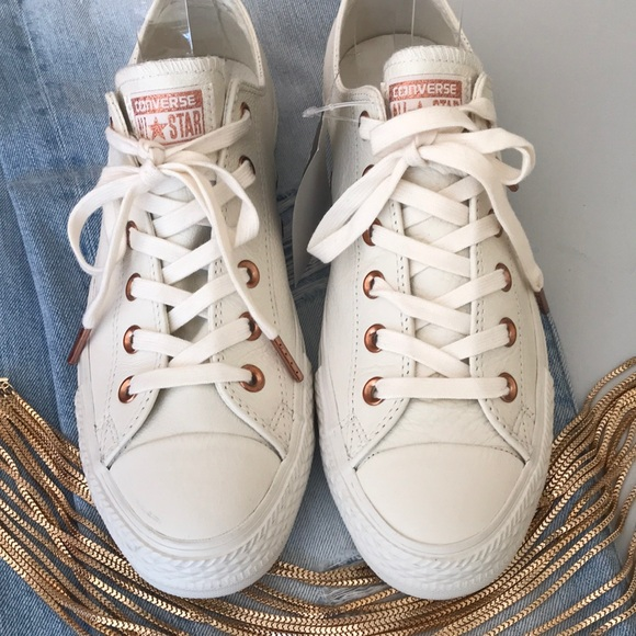 821bc77a61293f Converse Shoes - JUST IN - Converse white leather low tops